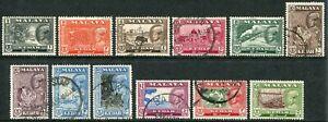 Malaysia (Kedah) 1959-62 1c-$5 perf. 12½ SG 104-114 used (cat. £50)