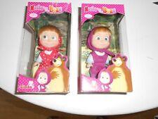 Simba Dickie 2 x Masha and The Bear Multi-Coloured Children's Dolls Toys New