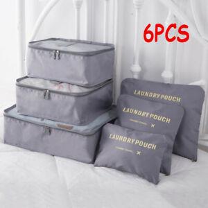 6PCS Clothes Storage Bags Ziped Organizer Underbed Wardrobe Cube Closet Boxes YE
