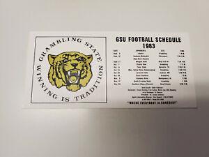 "JS15 Grambling State University 1983 Football Schedule Sticker (8"" x 3.75"")"