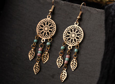Dream Catcher Feather Drop Earrings - AUS STOCK