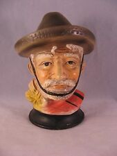 Rare Vintage Tilso Japan Chalkware Man with Sombrero handpainted with tag