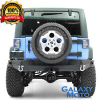 Rock Crawler Heavy Duty FULL Width Rear Bumper+Hitch for 07-18 Jeep JK Wrangler