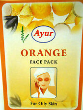 Ayur Orange Face Pack Powder 100grams For Oily Skin & Sensitive Skin USA SELLER