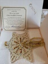 Lenox 2004 Annual Jeweled Snowflake Ornament Vgc in Box w/ Coa