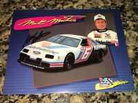Mark Martin VALVOLINE NASCAR HALL OF FAME ROUSH signed 9x11 1992 FORD #6 photo