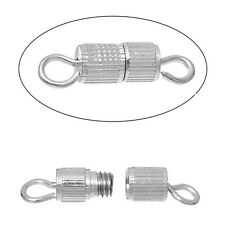 Screw Barrel Clasps Silver Colour End Tips - Necklaces Bracelets etc