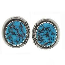 Navajo Turquoise Nugget Sterling Posts Stud Earrings
