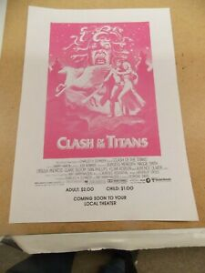 CLASH OF THE TITANS(1981)HARRY HAMLIN LOT OF 10 ORIGINAL ONE SIDED HERALDS