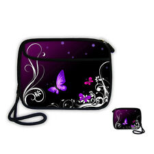 Purple Wallet Purse Cell Phone Bag Compact Camera Case Pouch For iPhone 6S/7