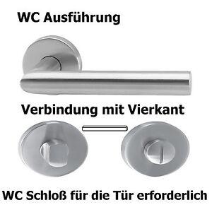 Türgriff Türbeschlag Drückergarnitur Türklinke Edelstahl BB PZ WC Tür Bad L-Form