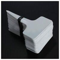 100pcs 6 x10cm Plastic Plant T-type Tags Markers Garden Labels Blank P6S2