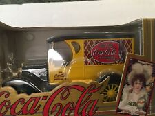ERTL ~ Rare Chevrolet Coca-Cola van Model Bank ~ Black & Yellow ~NIB