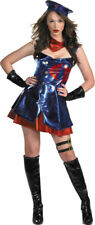 Morris Costumes Women's Gi Joe Cobra Shiny Blue Dress Red Petticoat. DG16837N