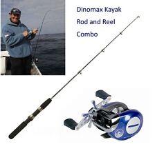 WSB dinomax Kayak Rod & I C BLU multipier Reel Combo-MARE CANOA Gratuita Fedex 24hr