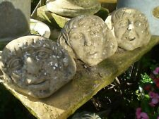 Vintage French Beatles Memorabilia,3 Garden Statue Heads from 1965,First Class
