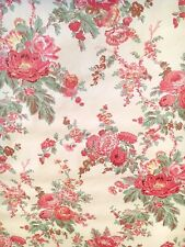 Vintage Wallpaper Floral Botanical Victorian Red and Pink by Motif