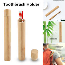 Portable Natural Bamboo Toothbrush Case Tube For Travel Eco Friendly Hand Made J
