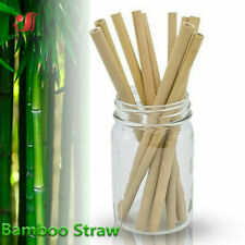 5/10pcs Bamboo Drinking Straws Reusable Eco-Friendly Party Kitchen drinks