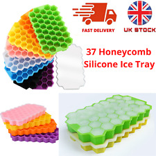 Ice Cube Tray Mould 37 Grids Honeycomb Shape with Lid Food Safe Grade Silicone