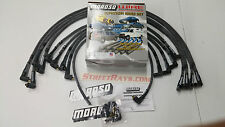 Moroso SBC 305 350 Sleeved Race Spark Plug Wires 90 degree Socket (Under Header)