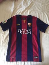 Authentic - FC Barcelona 2014 shirt soccer football Nike dri-fit jersey - YL