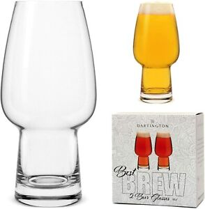 Vintage Dartington Craft Beer Lager IPA Stout Pale Ale Pint Glass Gift Set 500ml