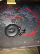 EUC Dr Dre BEATS Wired Headphones MONSTER Audio Red Headset In Ear