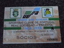 UEFA CUP 1988/89 - Sporting C.P. / Real Sociedad  - Used Ticket stub