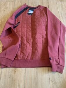 NEW Nike Sportswear Tech Pack Quilted Crew Sweatshirt Mauve Size M BV3697-661