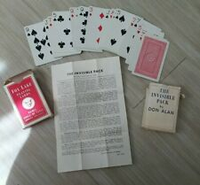 vintage Invisible Pack Magic Card Trick by Don Alan, 1970?s