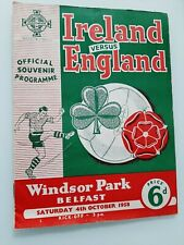 TWO IRELAND v ENGLAND FOOTBALL PROGRAMMES 1958 & 1960