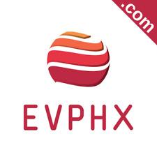 EVPHX.com 5 Letter .com Catchy Brandable Premium Domain Name for Sale Godaddy