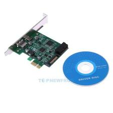PCI-E USB3.0 TYPE-C + A + Express Expansion Card 19-Pin SATA Connector 5Gbps New