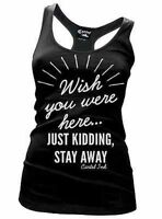 Cartel Ink Wish You Were Here Tattoo Racer Back Womens Tank T Tee Shirt S-Xxl