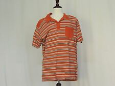 The North Face A5 Series Orange striped polo shirt size XL