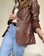 Vintage 70's Brown Leather Jacket