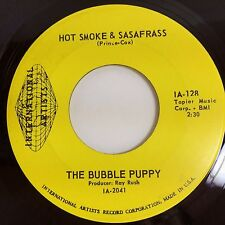 "THE BUBBLE PUPPY: HOT SMOKE & SASSAFRAS / LONELY (7"" 45RPM) NEAR MINT+!"