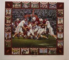 """Alabama football """"Between the Lines"""" Lee Roy Jordan signed print by Daniel Moore"""