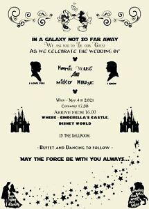 Disney   Marvel   Star Wars   Geek   Nerd - Wedding Invitations - Sample