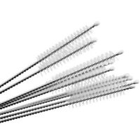 10pcs Nylon Cleaning Brush Pipe Stainless Steel Glass Straw Cleaners Drinking