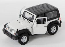 BLITZ VERSAND Jeep Wrangler Rubicon weiss / white Welly Modell Auto 1:34 NEU OVP