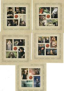 US Sc # BK307a (#4825b-4844b), M/NH Harry Potter Forever IMPERF BOOKLET PANE SET