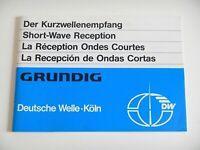 Y Grundig Deutsche Welle Der Kurzwellenempfang für Satellit Yachtboy Primaboy