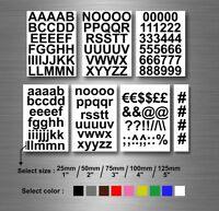 kit lettere e numeri adesivi sticker moto auto colore alteza a scelta auto