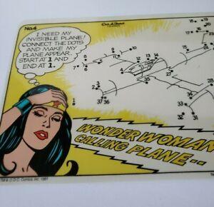 Vintage Etch A Sketch Wonderwoman Batman Fun Screens Transparencies Ohio Art