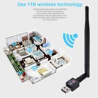 600M USB 2.0 Wifi Router Wireless 802.11b/g/n Adapter Network LAN Card w/Antenna