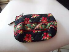 Vera Bradley small cosmetic in retired Hens and Holly Christmas pattern NWOT