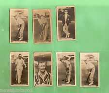 #D111. SEVEN  1928 - 1929  WILLS  CRICKET CIGARETTE CARDS