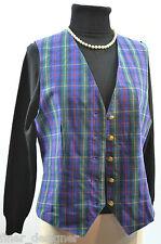 Pendleton Knockabouts 100% Cotton Vest VTG Blue Plaid Metal Button Top Womens 10